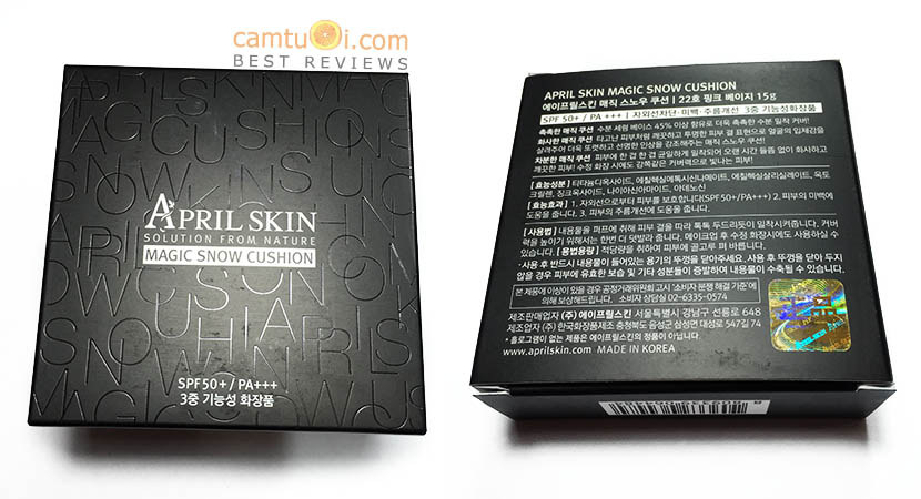 review phấn nước april skin