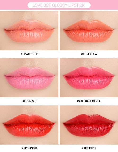 bang-mau-son-love-3ce-glossy-lip-stick