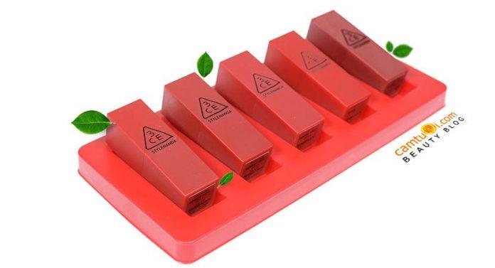 Review set son 3CE Red Recipe Mini Kit