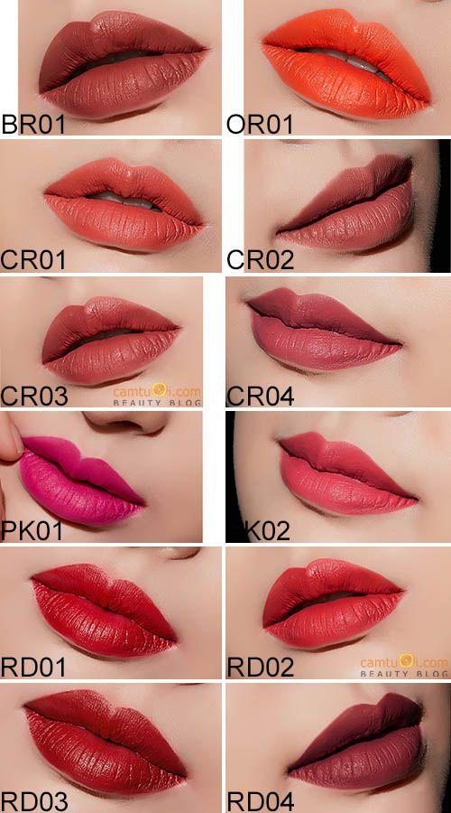bảng màu son apieu wild matt lipstick
