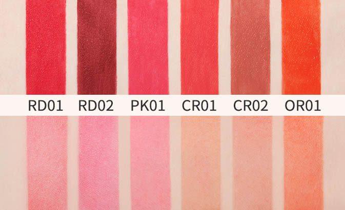 bảng màu son kem A'pieu Color Lip Stain Velvet Tint