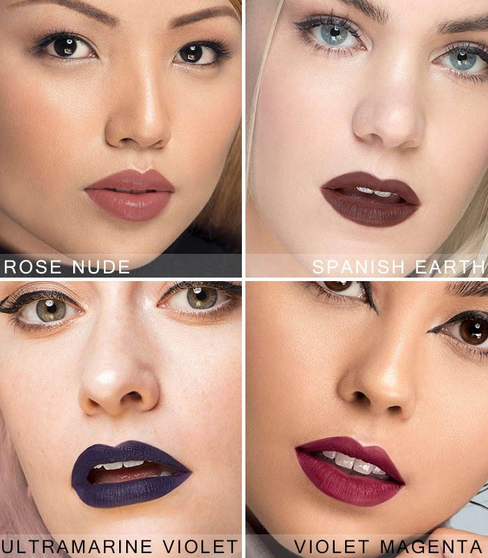 bảng màu son kem lì EM Cosmetics Infinite Lip Cloud