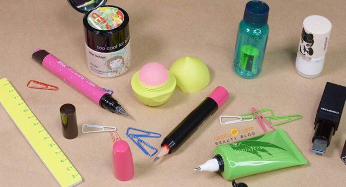 DIY back to school bộ dụng cụ học tập làm bằng mỹ phẩm