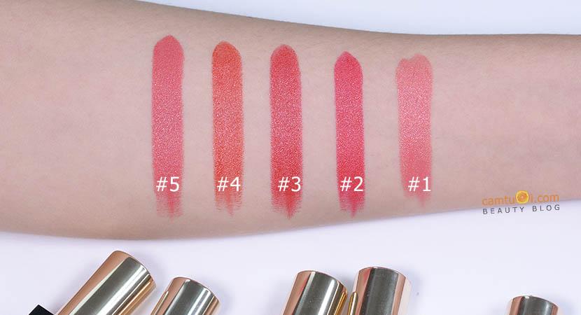 bảng màu son Eglips Golden Shimmer Lipstick