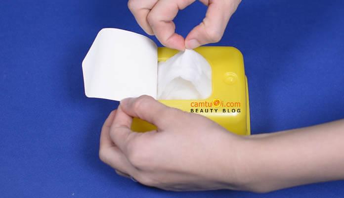 Review mặt nạ giấy Melano CC Whitening Mask của Nhật