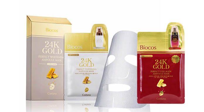 Review mặt nạ vàng 24k Gold Biocos