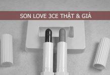 phân biệt son Love 3CE thật và giả