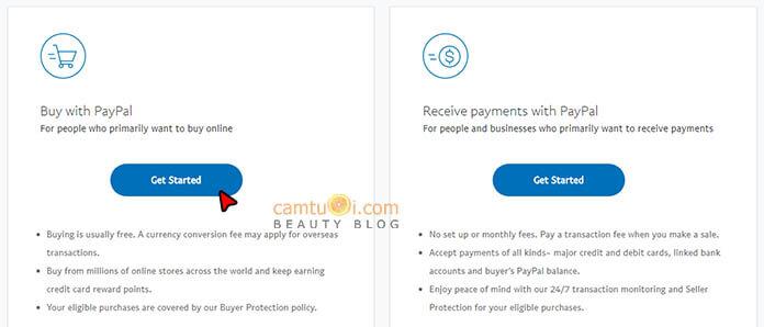 cách tạo tài khoản paypal