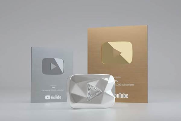 Nút bạc Youtube 2018