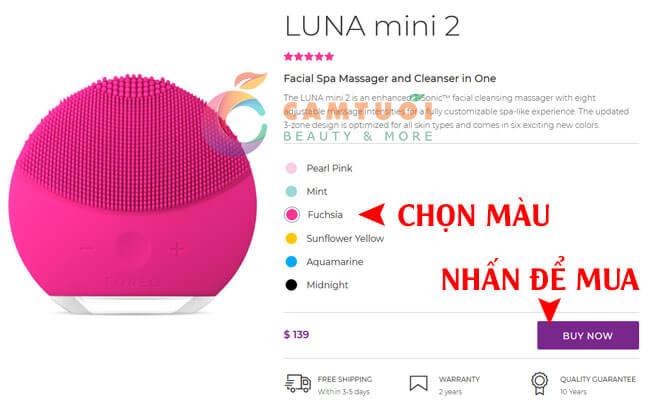 cách mua máy rửa mặt Foreo Luna chính hãng