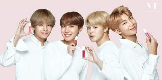 review son kem VT Velvet Lip Lacquer x BTS