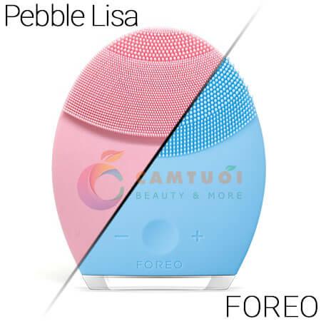 So sánh máy rửa mặt Pebble Lisa và Foreo