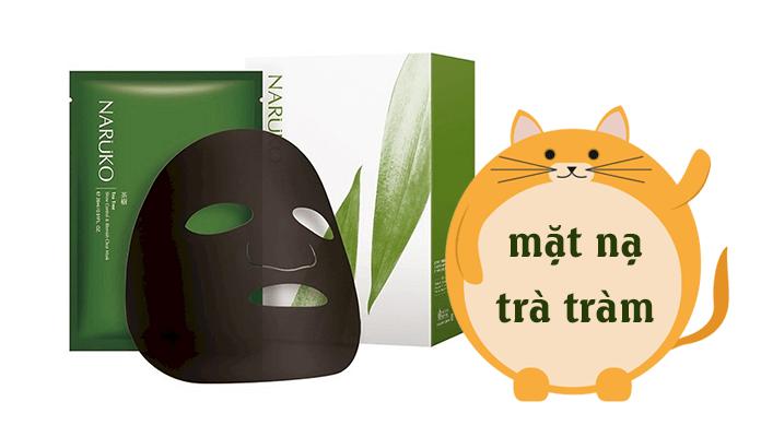 Review mặt nạ trà tràm Naruko Tea Tree Shine Control & Blemish Clear Mask