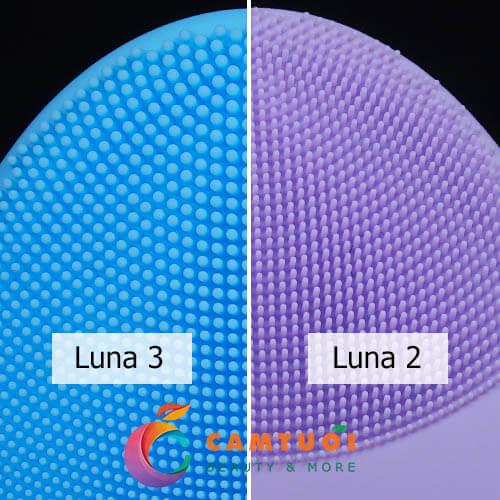 So sánh máy rửa mặt Foreo Luna 3 vs Luna 2
