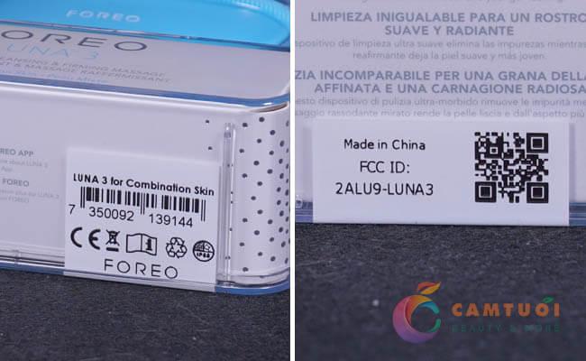 máy rửa mặt Foreo Luna 3 sản xuất ở đâu