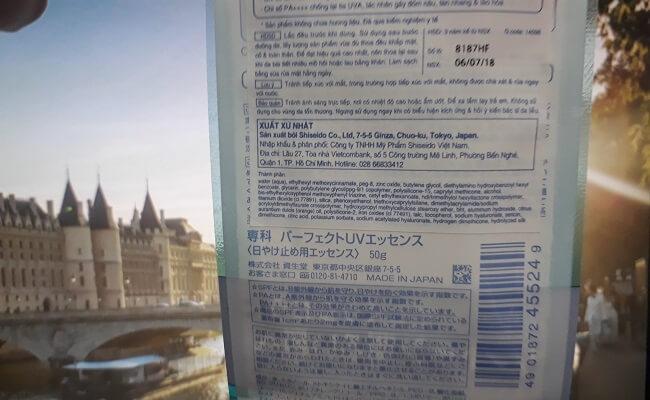 Review kem chống nắng dạng tinh chất Senka Perfect UV Essence