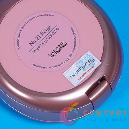 Review phấn nước Laneige Layering Cover Cushion