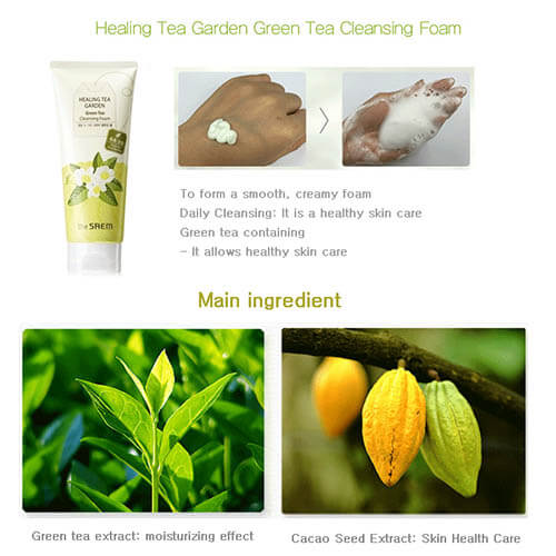 Review sữa rửa mặt tạo bọt The Saem Healing Tea Garden Cleansing Foam