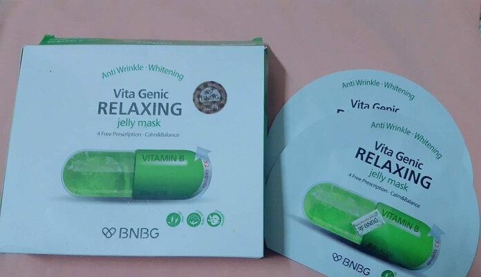 Review mặt nạ dưỡng da BNBG Vita Genic Relaxing Jelly Mask