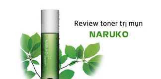 Review toner trị mụn Naruko Tea Tree Shine Control and Blemish Clear Toner
