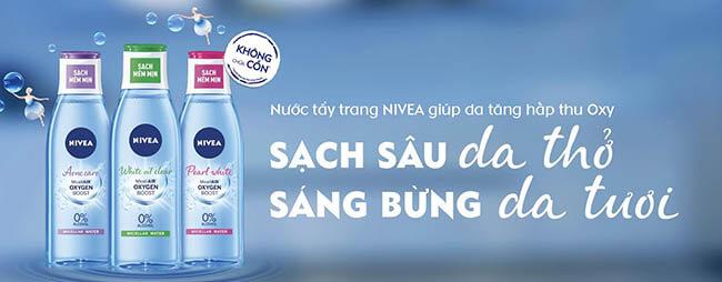 Nước tẩy trang không cồn Nivea Micellair
