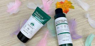 Review kem chống nắng trị mụn Some By Mi Truecica Mineral 100 Calming Suncream