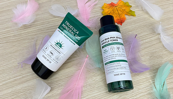 Review kem chống nắng trị mụn Some By Mi Truecica Mineral 100 Calming Suncream