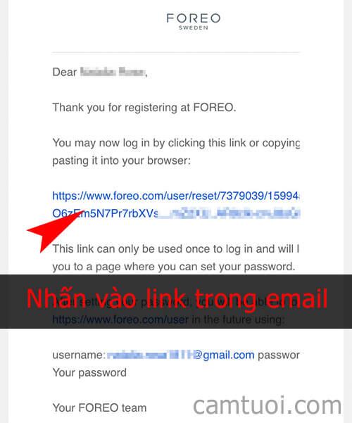 đăng ký tài khoản foreo
