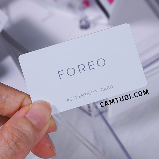 Foreo authenticity card