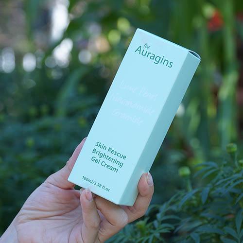 Review Gel Dưỡng Ẩm The Auragins Skin Rescue Brightening Gel Cream