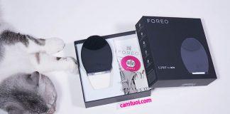 unbox máy rửa mặt Foreo Luna for Men